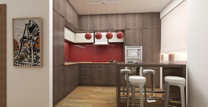 Küchenrückwände aus Glas dunkel rot