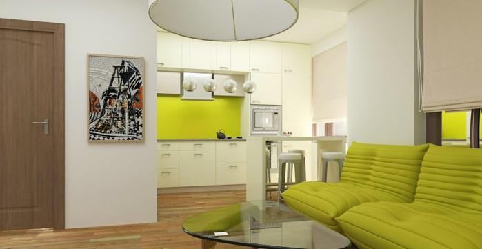 Küchen rückwände aus Glas frisch grün