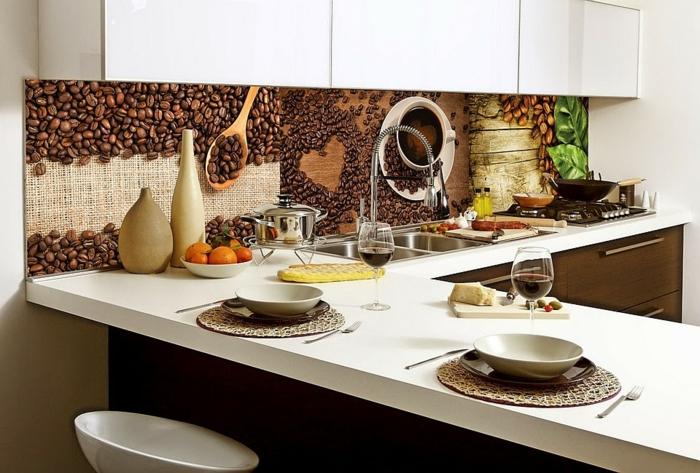 Glas kaffee bohnen Küchenrückwände