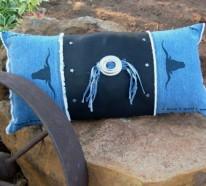 50 Kissenhüllen aus Jeans – DIY Kissenbezüge aus wiederverwendbaren Materialien