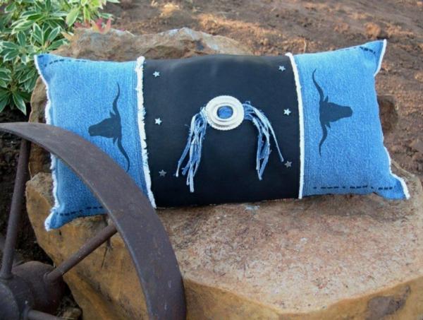 Kissenhüllen Jeans kissenbezüge dekorativ
