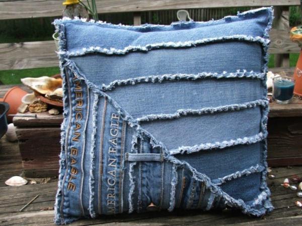Jeans kissenbezüge klamotten design