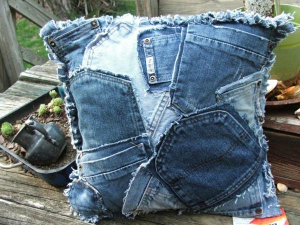 Kissenhüllen Jeans kissenbezüge klamotten hinter