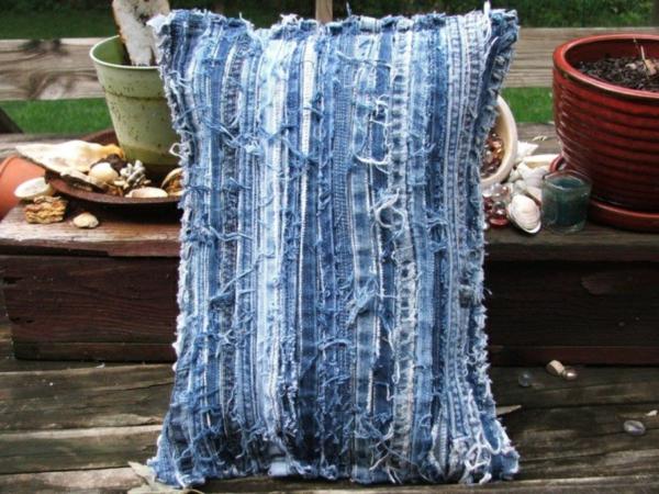 Kissenhüllen Jeans kissenbezüge klamotten kratzen