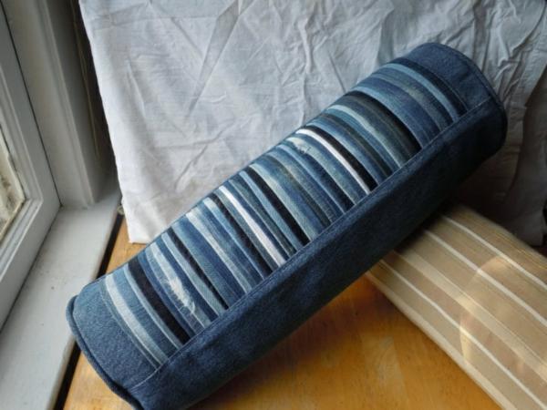 Jeans kissenbezüge klamotten rollkissen