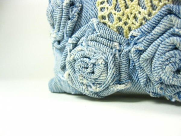 kissenbezüge klamotten Kissenhüllen aus Jeans nähen