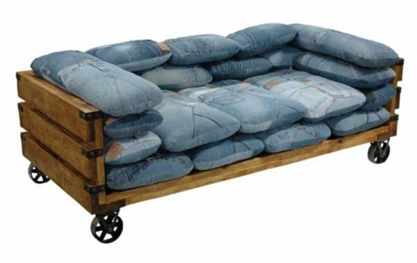 Jeans kissenbezüge klamotten sofa