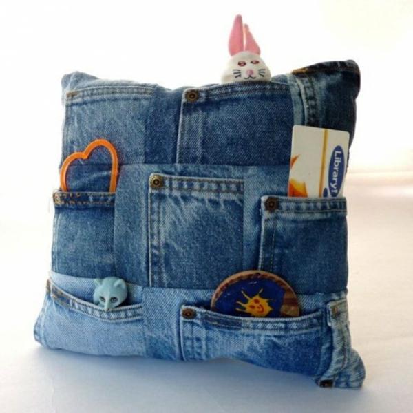 Kissenhüllen Jeans kissenbezüge klamotten taschen