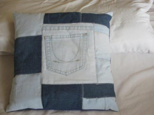 Kissenhüllen aus Jeans kissenbezüge klamotten textilien