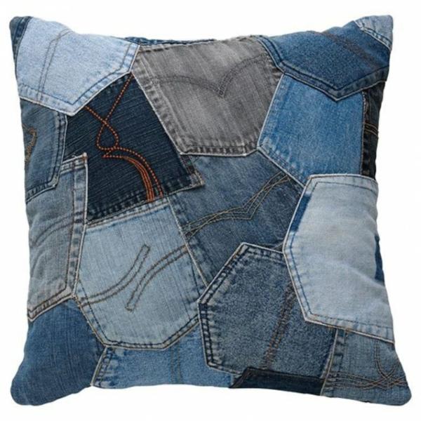 Kissenhüllen Jeans kissenbezüge tasche