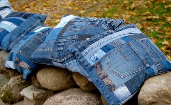 Kissenhüllen Jeans kissenbezüge texturen