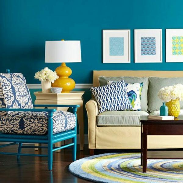 Wandfarbe Taubenblau: 40 Inspirierende Beispiele