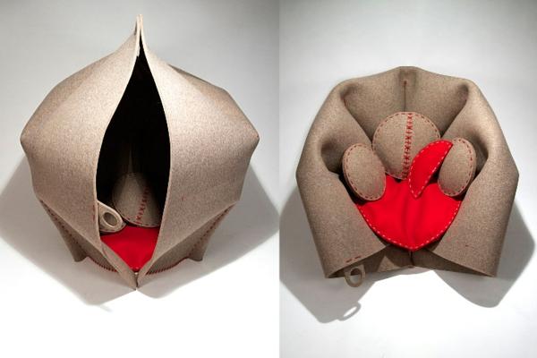 Origami Möbel ergonomische möbel aus filz die designer erholungsecke hush