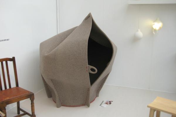 Ergonomische m bel aus filz die designer erholungsecke for Design stuhl filz