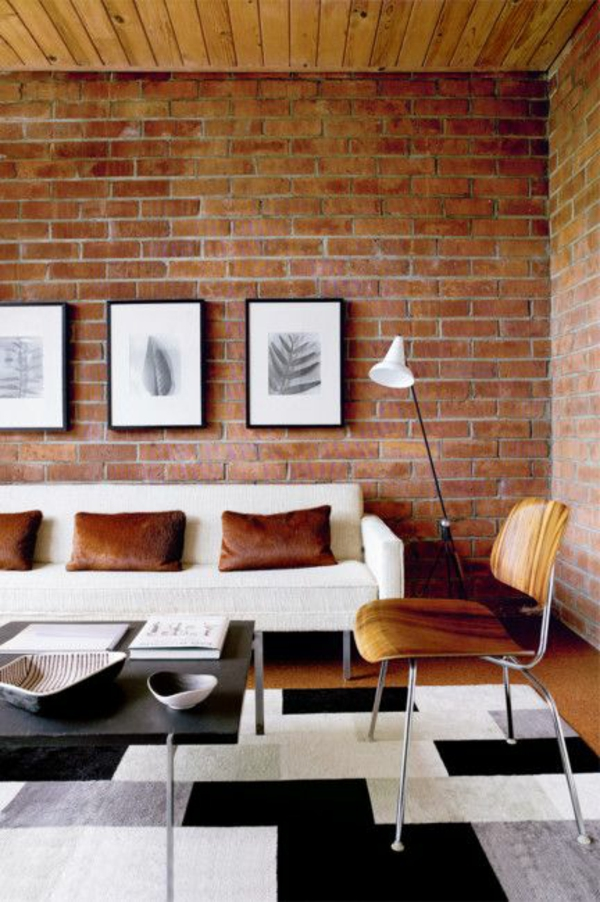 Wohnzimmermöbel  grafische zeichnungen natur