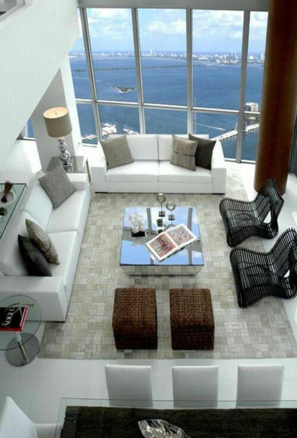 Moderne Wohnzimmermöbel aussichten meer