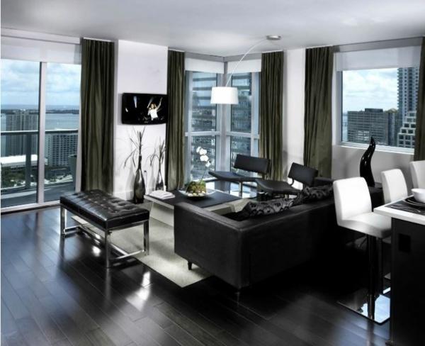 Moderne Wohnzimmermöbel bodenbelag holz