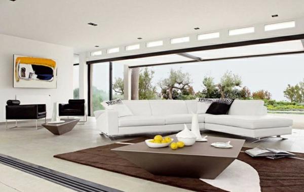 Moderne Wohnzimmermöbel eckig linien
