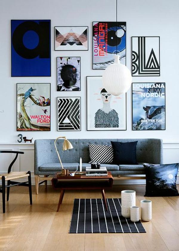 Wohnzimmermöbel galerie bilder wand