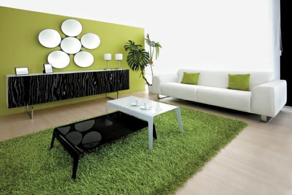 Moderne trennwand grün Wohnzimmermöbel grün nuancen