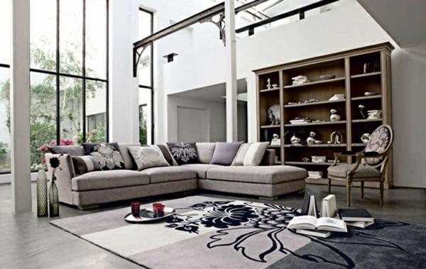 Moderne geräumig Wohnzimmermöbel groß bequem