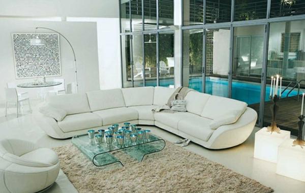 Moderne Wohnzimmermöbel hell farben sofa