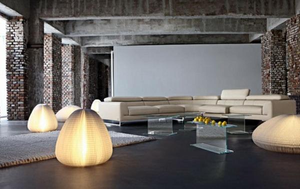 Moderne leuchtend Wohnzimmermöbel hell hocker