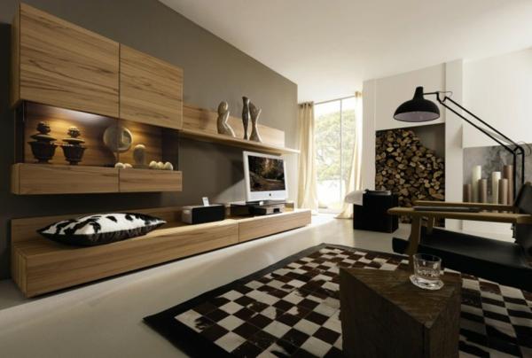 elegant Wohnzimmermöbel holz wand