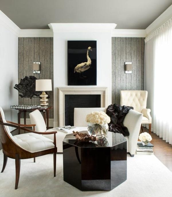 Moderne Wohnzimmermöbel kamin tisch