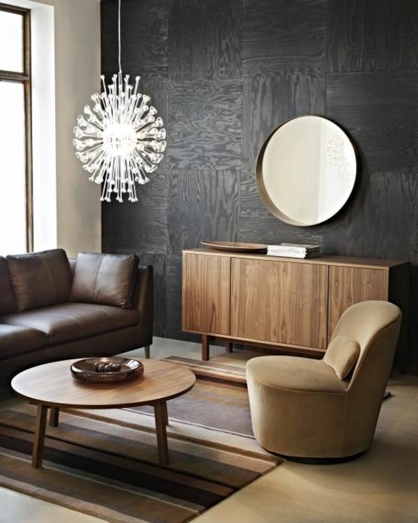 Moderne Wohnzimmermöbel kronleuchter wand farben