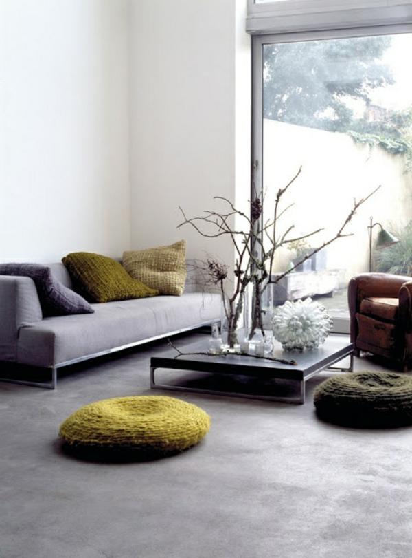 Moderne Wohnzimmermöbel natur pflanzen