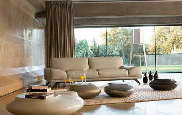 Moderne Wohnzimmermöbel ovale natürliche formen