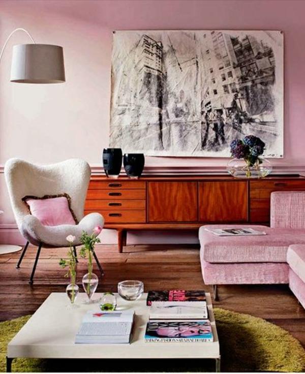 Moderne gemälde grafisch stadt umgebung Wohnzimmermöbel rosa farben