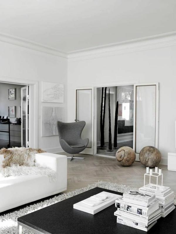 Moderne sessel grau Wohnzimmermöbel schwarz weiß