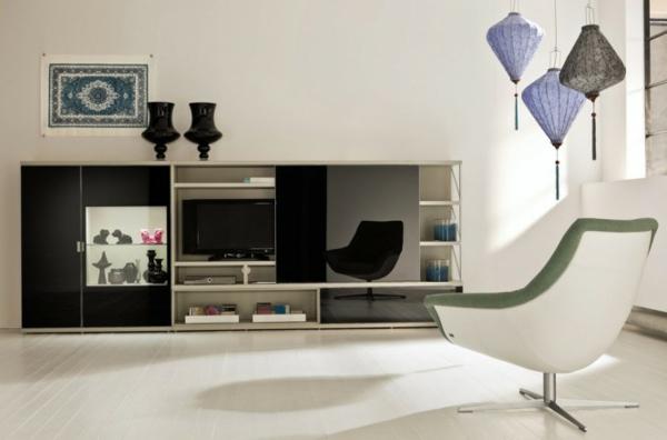 Moderne hängelampen papeir Wohnzimmermöbel sessel teppich