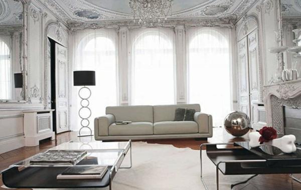 elegant ambiente Wohnzimmermöbel stehlampe schwarz lampenschirm