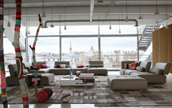 Moderne bunt stricken Wohnzimmermöbel bezüge