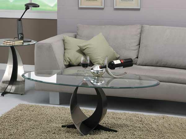 Ovale wohnzimmertische holz glas schick wohnzimmer sofa