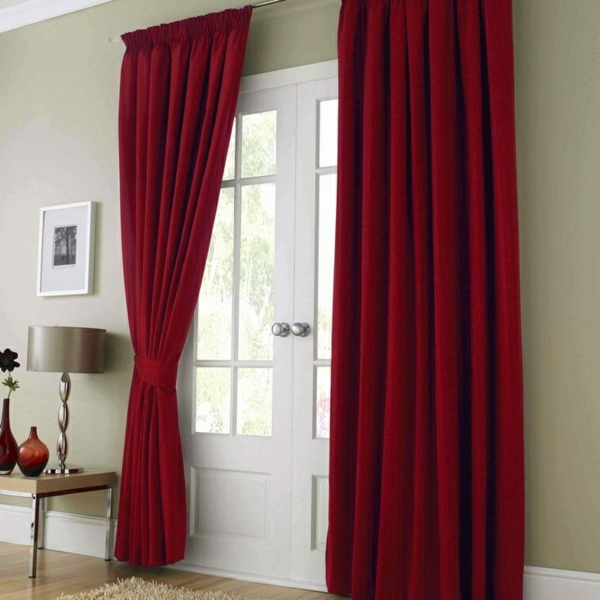 Bedroom Curtain Red