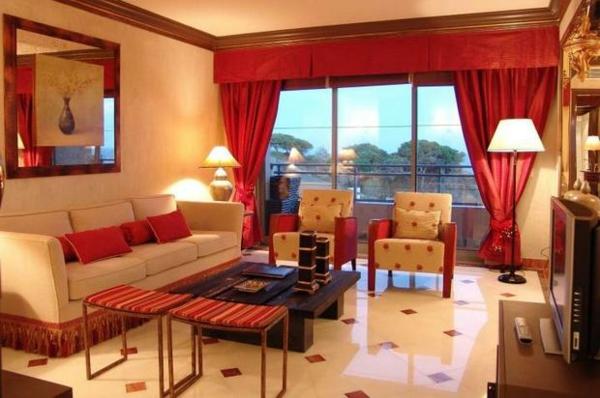 31 Gardinen Dekorationsvorschlge WohnzimmerVorhnge Wohnzimmer Rot