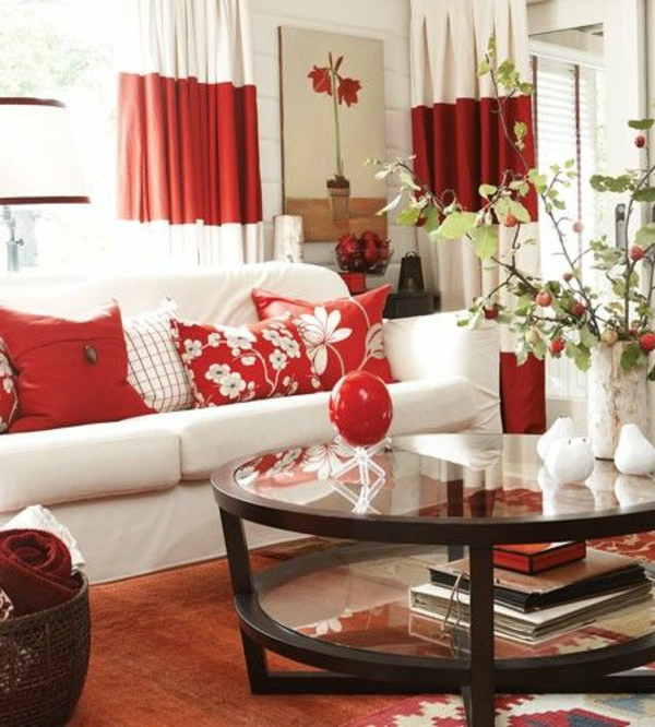 35 rote gardinen f 252 r k 246 nigliche eleganz in ihrem wohnzimmer