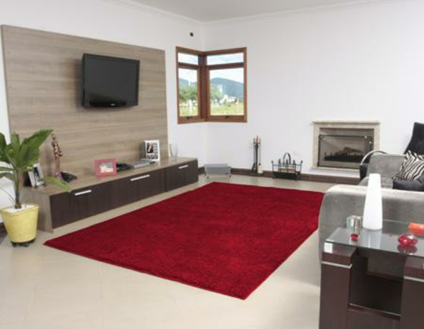 rote teppiche für etwas glamour zu hause, Wohnzimmer