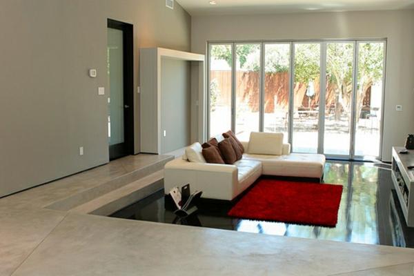 Rote Teppiche glanz komfort