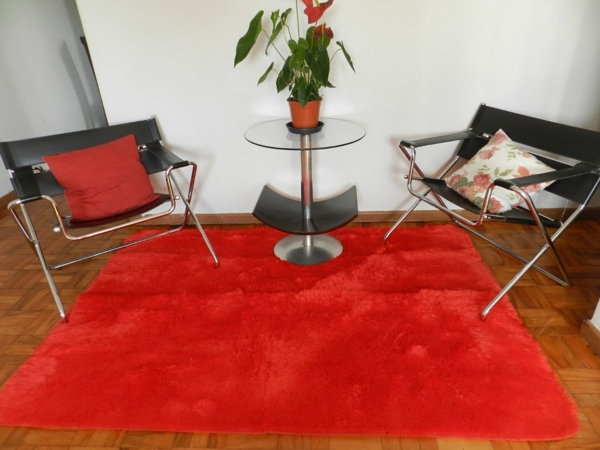 Rote Teppiche stühle weich