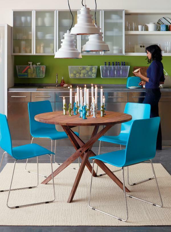 Runde Blaue Stühle Esstische Ausziehbar Design 70 Runde Esstische, Die Jede  Küche Total Transformieren Können ...