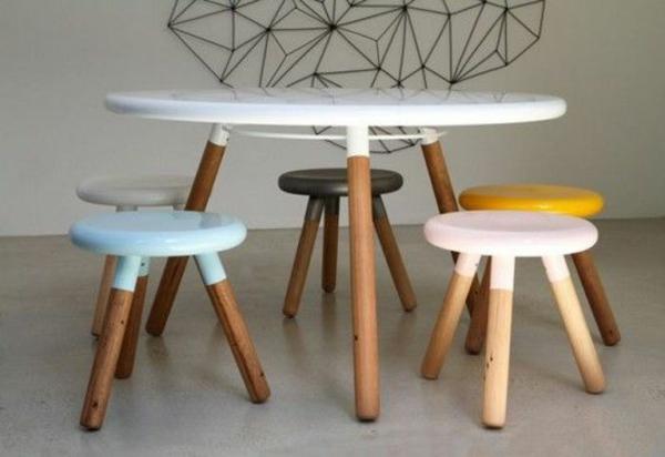 Esstisch modern rund  70 runde Esstische, die jede Küche total transformieren können