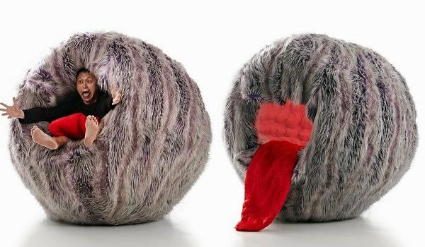Rundes Sessel ball kuschelig zunge
