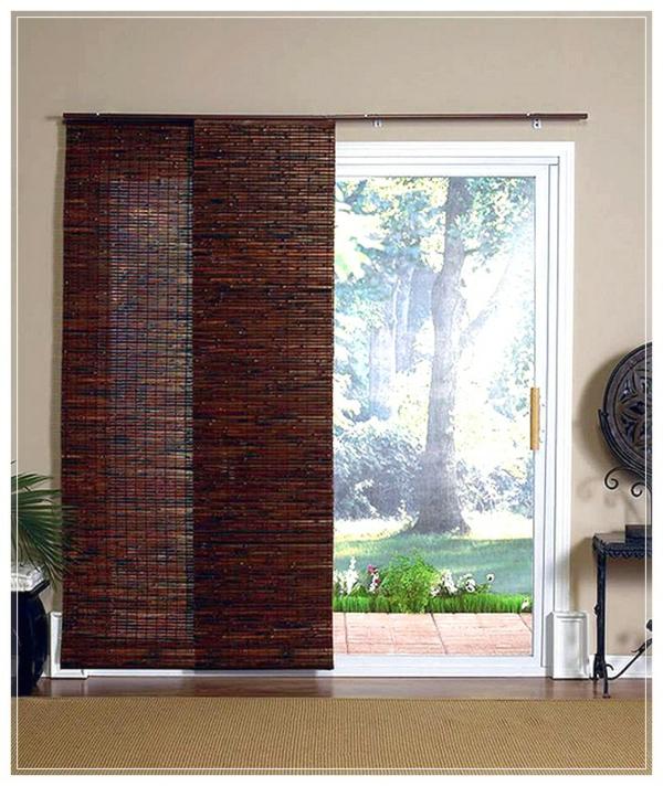 bambus Braun wohnzimmer glas türen aussichten