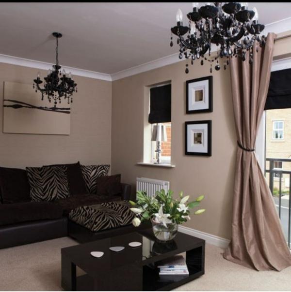 schiebevorhang in braun m nnliche eleganz und privatheit. Black Bedroom Furniture Sets. Home Design Ideas
