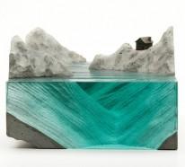 Skulpturen aus Glas erinnern an die Pracht des Ozeans